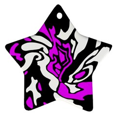 Purple, white and black decor Star Ornament (Two Sides)