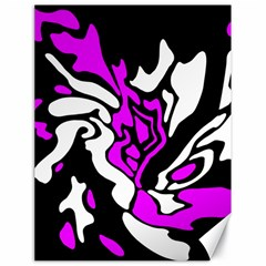 Purple, white and black decor Canvas 18  x 24