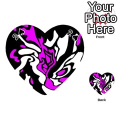 Purple, white and black decor Playing Cards 54 (Heart)