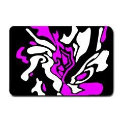 Purple, white and black decor Small Doormat