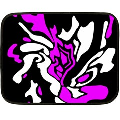 Purple, white and black decor Double Sided Fleece Blanket (Mini)