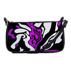 Purple, white and black decor Shoulder Clutch Bags
