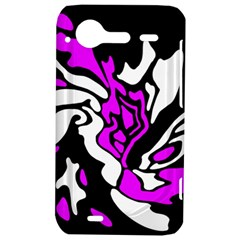 Purple, white and black decor HTC Incredible S Hardshell Case