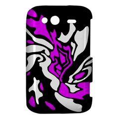 Purple, white and black decor HTC Wildfire S A510e Hardshell Case