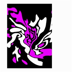 Purple, white and black decor Small Garden Flag (Two Sides)