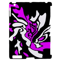 Purple, white and black decor Apple iPad 2 Hardshell Case (Compatible with Smart Cover)
