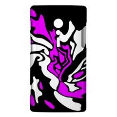 Purple, white and black decor Sony Xperia ion