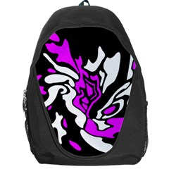 Purple, white and black decor Backpack Bag