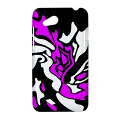 Purple, white and black decor HTC Desire VC (T328D) Hardshell Case