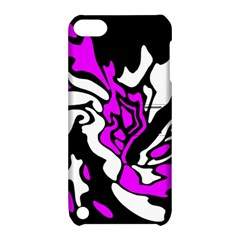 Purple, white and black decor Apple iPod Touch 5 Hardshell Case with Stand