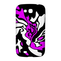 Purple, white and black decor Samsung Galaxy Grand GT-I9128 Hardshell Case