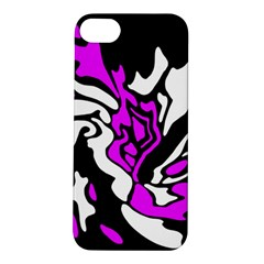Purple, white and black decor Apple iPhone 5S/ SE Hardshell Case