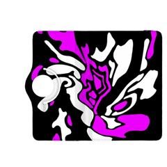Purple, white and black decor Kindle Fire HDX 8.9  Flip 360 Case