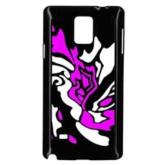Purple, white and black decor Samsung Galaxy Note 4 Case (Black)