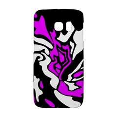 Purple, white and black decor Galaxy S6 Edge