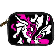 Magenta, black and white decor Digital Camera Cases