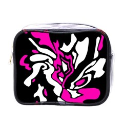 Magenta, black and white decor Mini Toiletries Bags