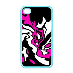 Magenta, black and white decor Apple iPhone 4 Case (Color)