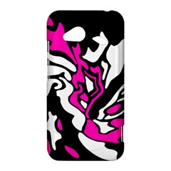 Magenta, black and white decor HTC Droid Incredible 4G LTE Hardshell Case