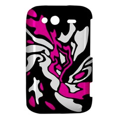Magenta, black and white decor HTC Wildfire S A510e Hardshell Case