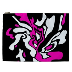 Magenta, black and white decor Cosmetic Bag (XXL)
