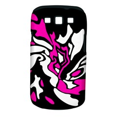 Magenta, black and white decor Samsung Galaxy S III Classic Hardshell Case (PC+Silicone)