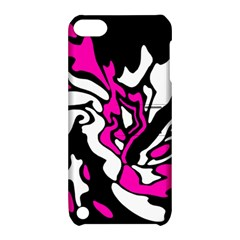 Magenta, black and white decor Apple iPod Touch 5 Hardshell Case with Stand