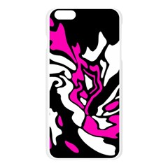 Magenta, black and white decor Apple Seamless iPhone 6 Plus/6S Plus Case (Transparent)