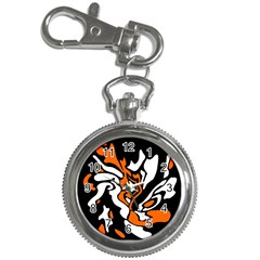 Orange, white and black decor Key Chain Watches