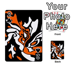 Orange, white and black decor Playing Cards 54 Designs
