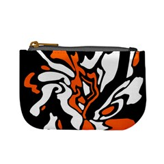 Orange, white and black decor Mini Coin Purses