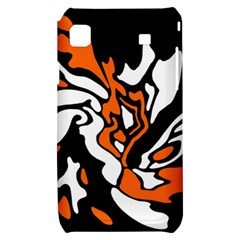 Orange, white and black decor Samsung Galaxy S i9000 Hardshell Case