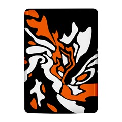 Orange, white and black decor Kindle 4