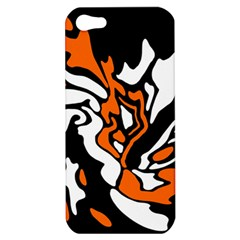 Orange, white and black decor Apple iPhone 5 Hardshell Case