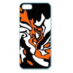 Orange, white and black decor Apple Seamless iPhone 5 Case (Color)