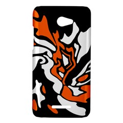 Orange, white and black decor HTC Butterfly X920E Hardshell Case