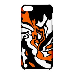 Orange, white and black decor Apple iPod Touch 5 Hardshell Case with Stand