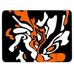 Orange, white and black decor Samsung Galaxy Tab 7  P1000 Flip Case