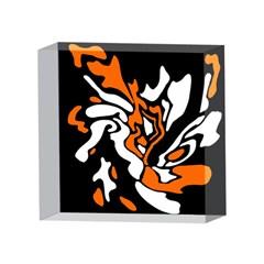 Orange, white and black decor 4 x 4  Acrylic Photo Blocks