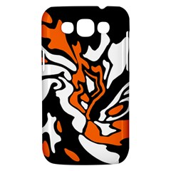 Orange, white and black decor Samsung Galaxy Win I8550 Hardshell Case