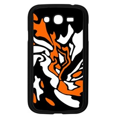 Orange, white and black decor Samsung Galaxy Grand DUOS I9082 Case (Black)