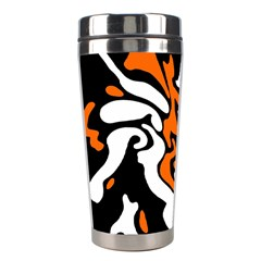 Orange, white and black decor Stainless Steel Travel Tumblers