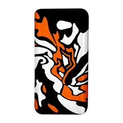 Orange, white and black decor HTC Butterfly S/HTC 9060 Hardshell Case