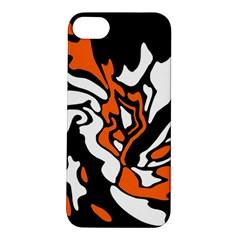 Orange, white and black decor Apple iPhone 5S/ SE Hardshell Case