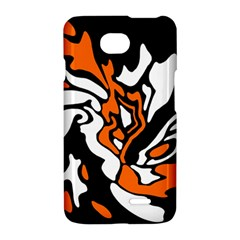 Orange, white and black decor LG Optimus L70