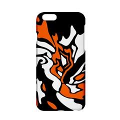 Orange, white and black decor Apple iPhone 6/6S Hardshell Case