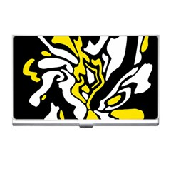 Yellow, black and white decor Business Card Holders