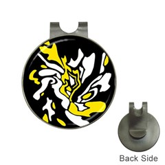 Yellow, black and white decor Hat Clips with Golf Markers