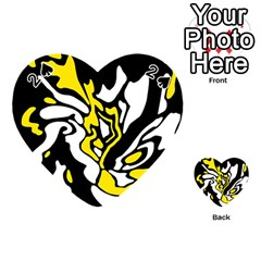 Yellow, black and white decor Playing Cards 54 (Heart)
