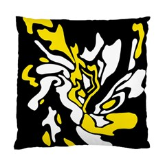 Yellow, black and white decor Standard Cushion Case (Two Sides)